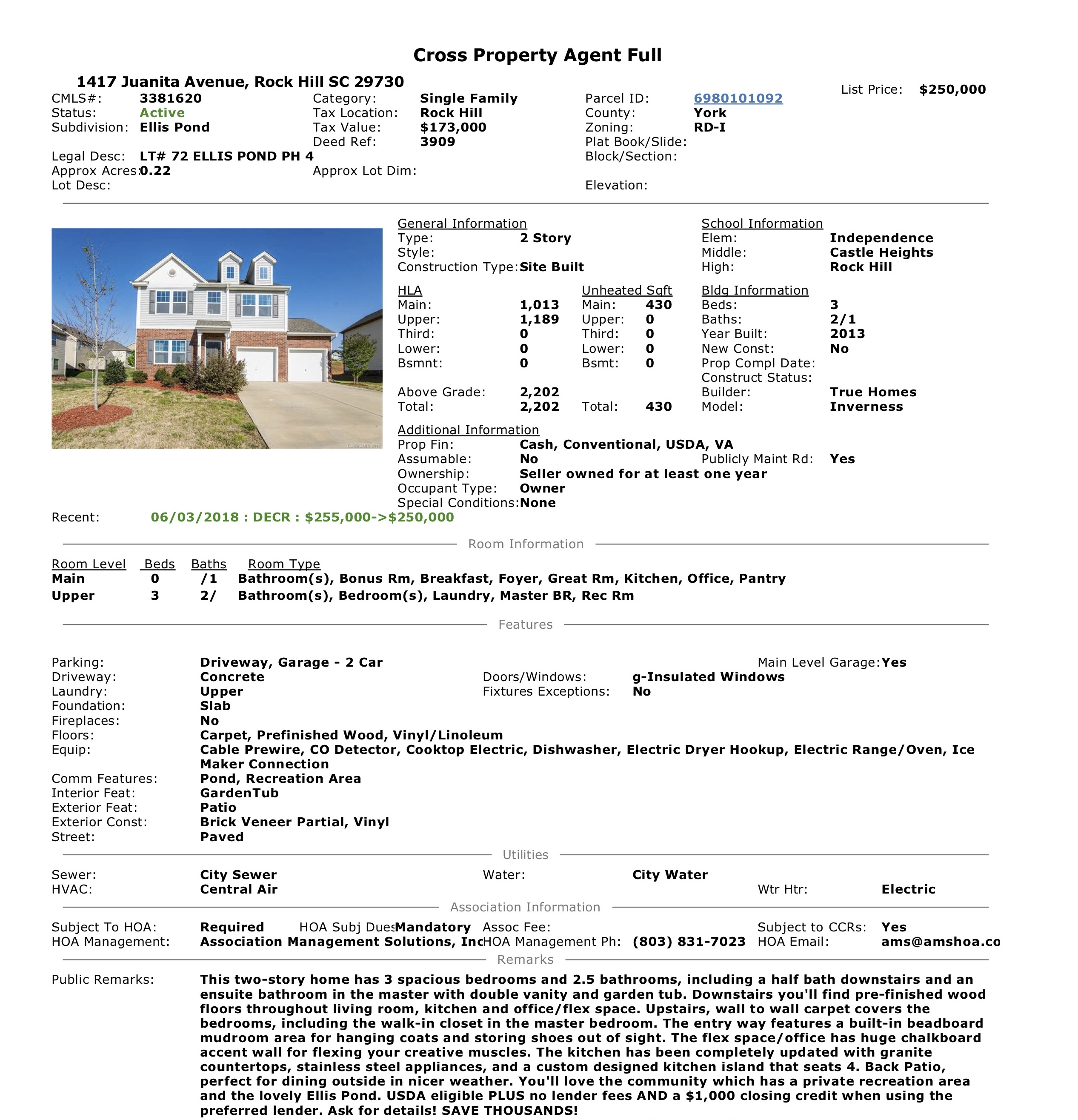 MLS Data Sheet 1417 Juanita Avenue